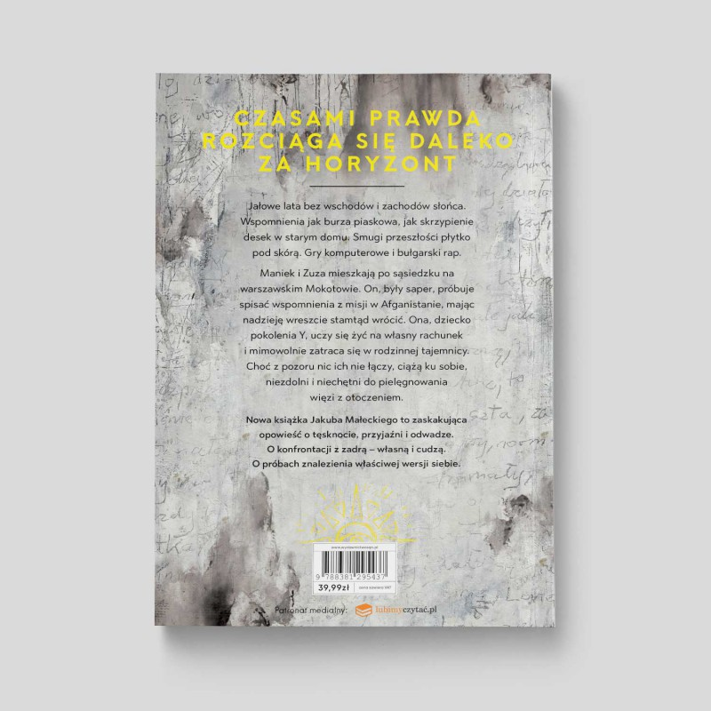 Okładka książki Horyzont Jakuba Małeckiego w SQN Store tył