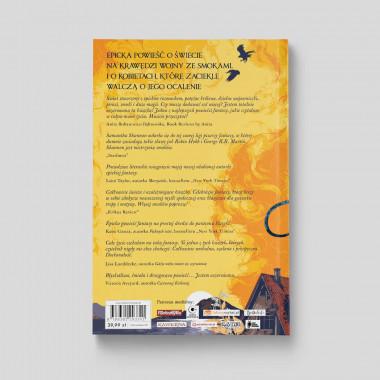 Tył okładki książki Zakon Drzewa Pomarańczy. Część 1, Samantha Shannon na SQN Store