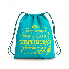 Plecak worek z elementami książki Na tropie magii SQN Originals Marysi Krasowskiej w SQN Store