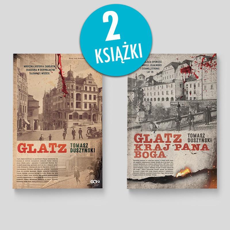 Zdjęcie pakietu książek Glatz. Tomasz Duszyński + Glatz. Kraj Pana Boga w księgarni SQN Store