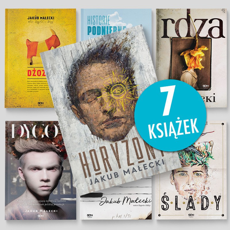 Zdjęcie pakietu książek Kuby Małeckiego w księgarni SQN Store