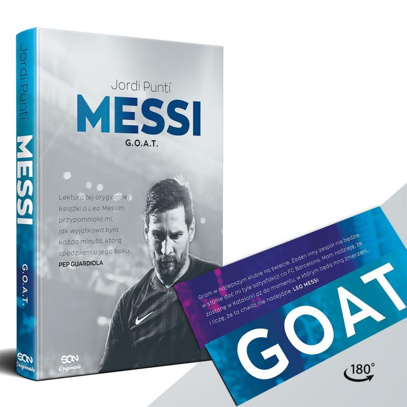 Zdjęcie pakietu SQN Originals: Messi. G.O.A.T. + zakładka GOAT w księgarni SQN Store