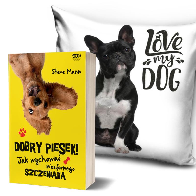 Zdjęcie pakietu Dobry piesek + Poszewka na poduszkę Love my dog w SQN Store