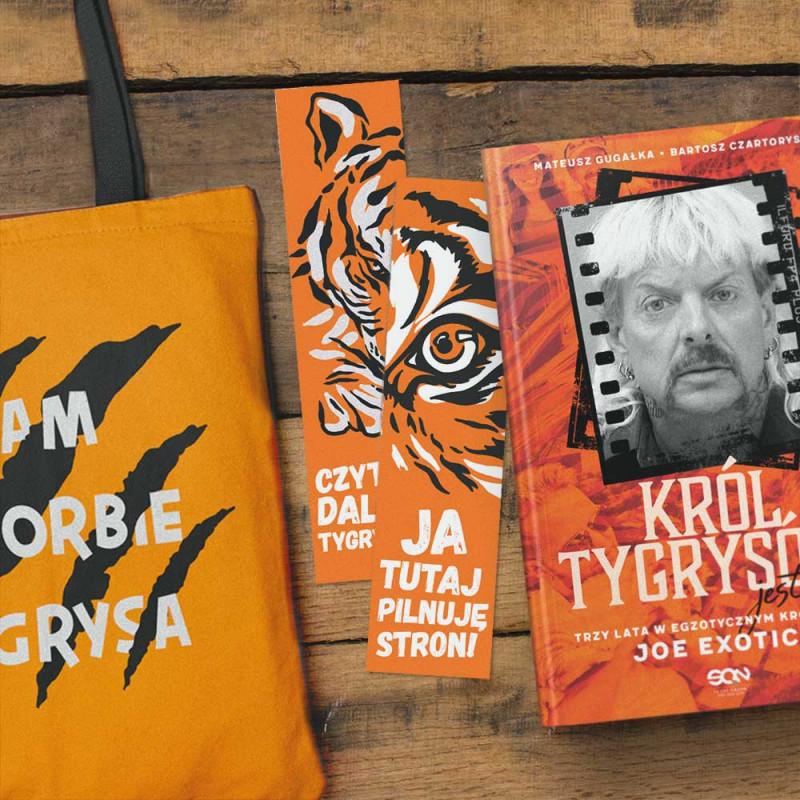 Zdjęcie pakietu Król Tygrysów jest nagi + torba + zakładka w księgarni SQN Store