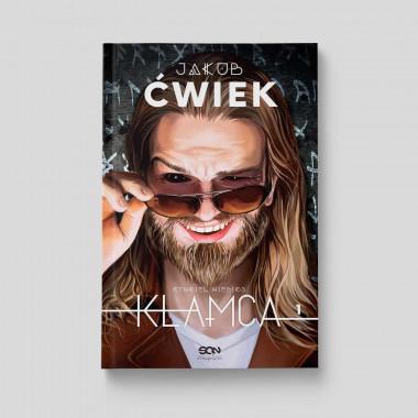 Okładka książki Kłamca Jakub Ćwiek w SQNstore front