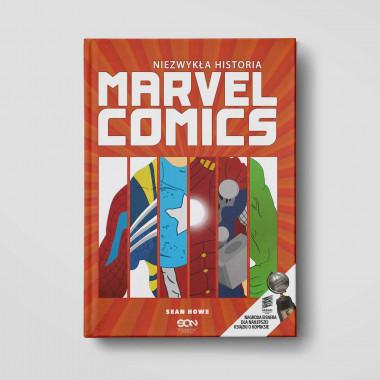 Okładka książki Niezwykła historia Marvel Comics w SQN Store front