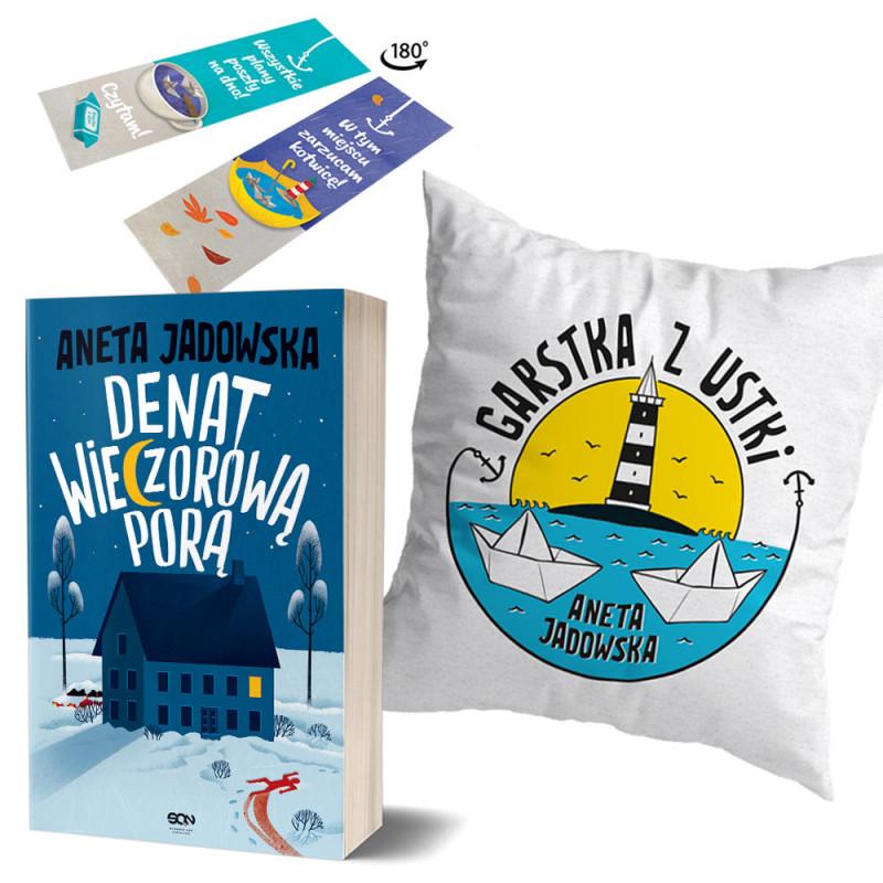 Zdjęcie pakietu Denat wieczorową porą + Zakładka Martwy sezon + Poszewka na poduszkę Martwy sezon w księgarni SQN Store