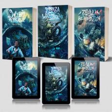Zdjęcie pakietu: Zaułki St. Naarten + e-book + Wyspy plugawe + e-book + Morza Wszeteczne + e-book w księgarni SQN Store