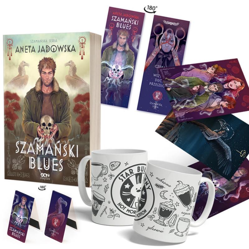 Zdjęcie pakietu Szamański blues (zakładka gratis) + Zakładka magnetyczna + Zestaw pocztówek + Kubek w księgarni SQN Store