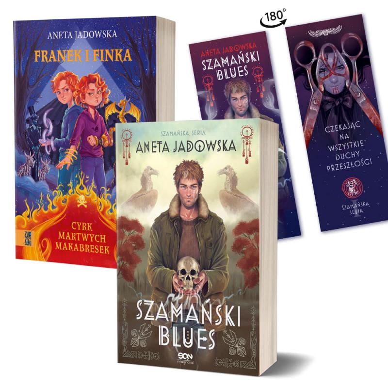 Zdjęcie pakietu Szamański blues (zakładka gratis) + Franek i Finka. Cyrk martwych makabresek w księgarni SQN Store