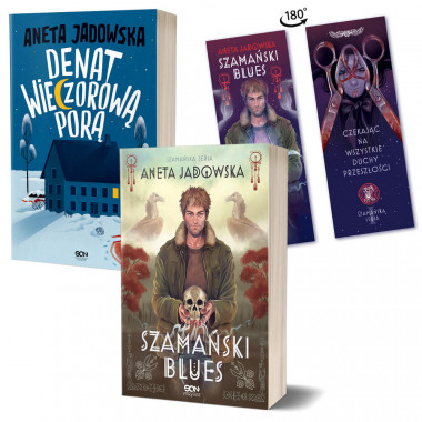 Zdjęcie pakietu Szamański blues (zakładka gratis) + Denat wieczorową porą w księgarni SQN Store