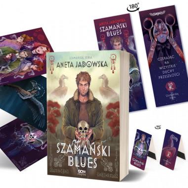 Zdjęcie pakietu Szamański blues (zakładka gratis) + Zakładka magnetyczna + Zestaw pocztówek w księgarni SQN Store