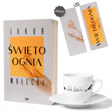 Zdjęcie pakietu Święto ognia (zakładka gratis) + filiżanka z autografem Jakub Małecki w księgarni SQN Store