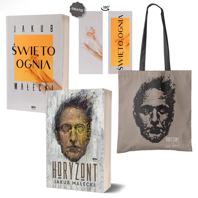 Zdjęcie pakietu Święto ognia (zakładka gratis) + Horyzont + Torba bawełniana Horyzont Jakub Małecki w księgarni SQN Store