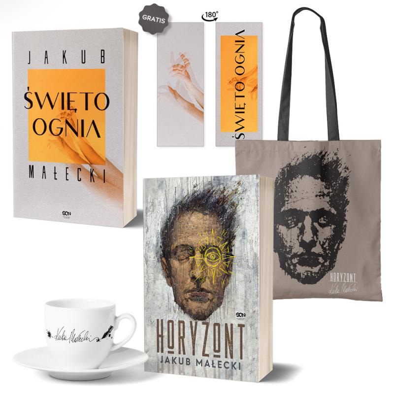 Pakiet Święto ognia (zakładka gratis) + Horyzont + Torba Horyzont + Filiżanka porcelanowa z autografem w SQN Store