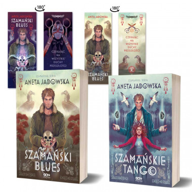 Zdjęcie pakietu Szamańskie tango (zakładka gratis) + Szamański blues (zakładka gratis) w księgarni SQN Store