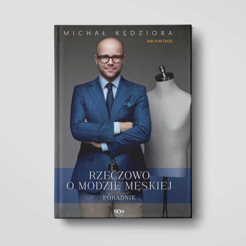 Okładka książki Rzeczowo o modzie męskiej w SQN Store front