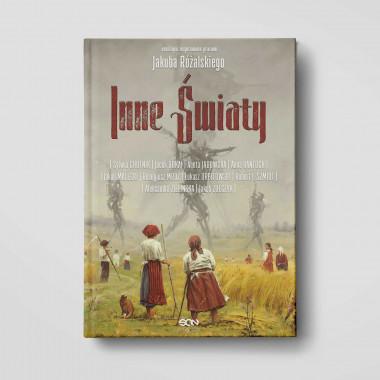 Okładka książki Inne Światy, antologia inspirowana pracami Jakuba Różalskiego w SQNstore front
