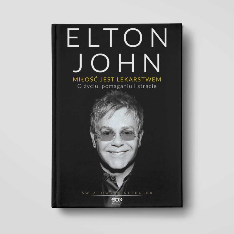 Okładka książki Elton John. Miłość jest lekarstwem. O życiu, pomaganiu i stracie w SQN Store