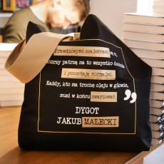 Torba bawełniana czarna Jakub Małecki w SQN Store