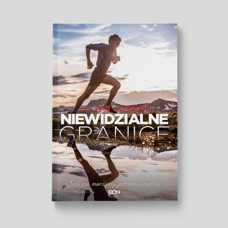 """Okładka książki sportowej """"Kilian Jornet. Niewidzialne granice"""" w SQN Store"""